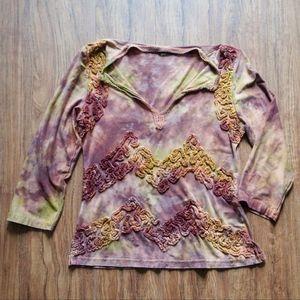 Mezon Artisan Style Tie Dye Top Size M